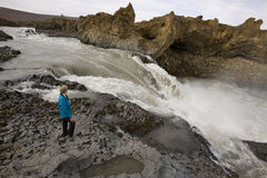 Rapids near Godafoss Waterfall - Iceland Stock Photos