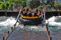 The rapids at ocean park, hong kong Royalty Free Stock Images