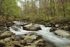 Rapids on the Oconaluftee river Stock Photos