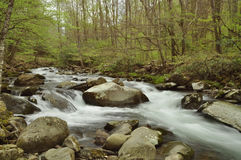 Rapids on the Oconaluftee river Stock Image