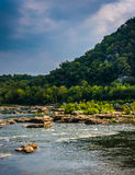 Rapids on the Potomac River in Harpers Ferry, West Virginia. Stock Image