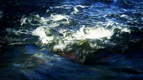 Rapids in the river stock footage