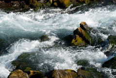 Rapids in the river in Iceland Stock Photo