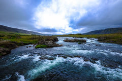 Rapids in river landscape Royalty Free Stock Photos