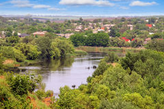 The rapids on a river near the Ukrainian village Royalty Free Stock Photo