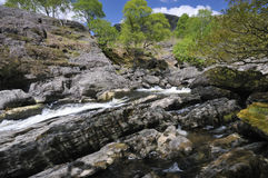 Rapids on River Tywi Royalty Free Stock Image