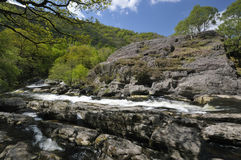 Rapids on River Tywi Stock Images