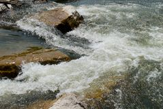 Rapids and rocks in river Royalty Free Stock Photography