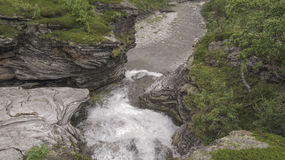 Rapids. Small rapids in northern Norway stock photography