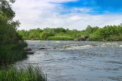 The rapids on a small river in Ukraine Stock Image