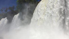 Rapids sound and rainbows at Iguazu waterfalls