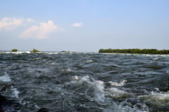 Rapids. View of the poweful Lachine Rapids in Montreal Canada stock photos