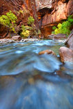 Rapids of the Virgin River Narrows Stock Image