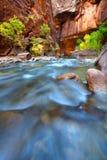 Rapids of the Virgin River Narrows stock image