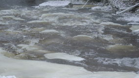 The rapids of water from the lake stock video