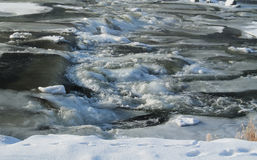 Rapids in winter Royalty Free Stock Photo