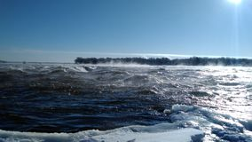 Rapids. Winter water icewater royalty free stock photography