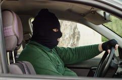 Rapinatore di banche mascherato Fotografia Stock