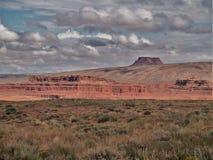 Raplee Anticline και πεδιάδες ερήμων κοντά στο μεξικάνικο καπέλο Στοκ Εικόνες