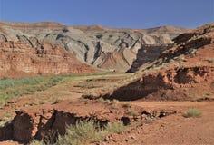 Raplee Ridge i den mexicanska hatten, Utah Royaltyfria Foton