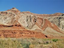 Raplee Ridge i den mexicanska hatten, Utah Royaltyfri Fotografi
