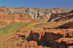 Raplee Ridge im mexikanischen Hut, Utah lizenzfreies stockbild