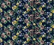 Raport del modello di fiori Fotografia Stock Libera da Diritti