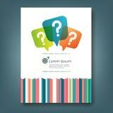 Raport i pokrywa książkowy szablon Obraz Stock