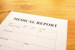 raport medyczny Fotografia Stock