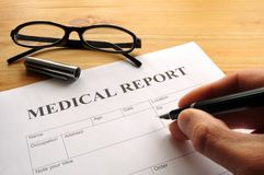 raport medyczny Obraz Stock