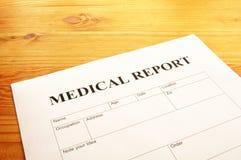 raport medyczny Fotografia Royalty Free