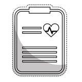 Raport medyczny ikona Obraz Stock