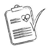 Raport medyczny ikona Obraz Royalty Free