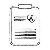Raport medyczny ikona Zdjęcia Royalty Free