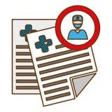 Raport medyczny ikona Zdjęcie Stock