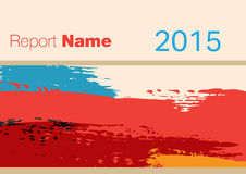 Raportowa pokrywa 2015 ilustracja wektor