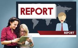 Raportowy prezentaci informaci badania wiadomości pojęcie Zdjęcie Stock