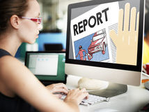 Raportowy prezentaci informaci badania wiadomości pojęcie Zdjęcie Royalty Free