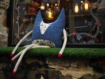 Raposa azul com pés longos Imagens de Stock Royalty Free
