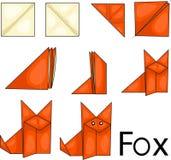 Raposa do origâmi ilustração stock