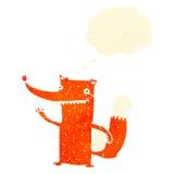 raposa inteligente dos desenhos animados retros ilustração stock