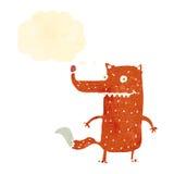 raposa inteligente dos desenhos animados retros ilustração do vetor