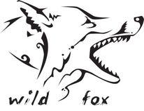 Raposa selvagem do tatuagem tribal Fotografia de Stock Royalty Free