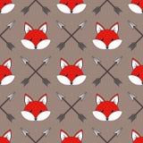 Raposas bonitos dos desenhos animados Imagens de Stock