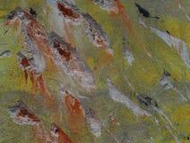 Rappa knockat som en abstrakt konst av tegelsten arkivfoton