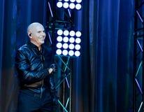 Rappare Pitbull som utför på etapp Fotografering för Bildbyråer