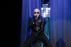 Rappare Pitbull som utför på etapp Arkivbilder