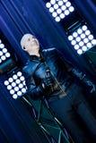 Rappare Pitbull som utför på etapp Arkivfoto