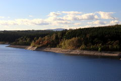Rappbode dam Rappbode-Talsperre with Brocken in background. Panoramic view of Rappbode dam with Brocken in background Royalty Free Stock Photography