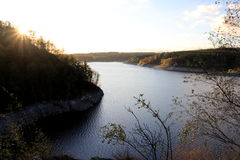 Rappbode dam Rappbode-Talsperre. Panoramic view of Rappbode dam Royalty Free Stock Photo
